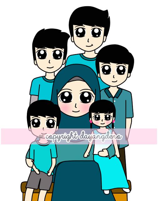 Tempahan : Doodle Family Untuk Hannan