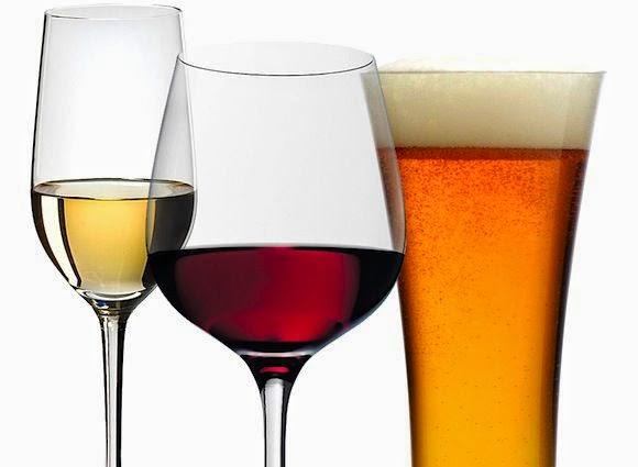 la cerveza y el vino: