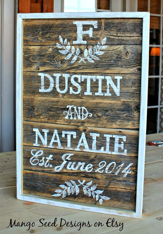 Hand Painted Custom Pallet Wedding/Anniversary Sign by Mango Seed Marketplace via http://www.prodigalpieces.com