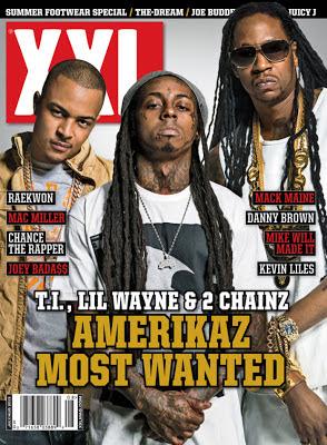 portada de la revista xxl con lil wayne 2 chainz y ti