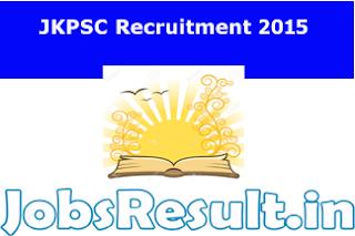 JKPSC Recruitment 2015