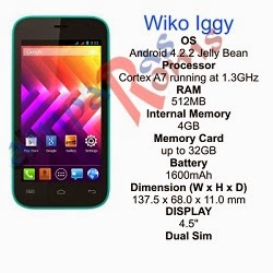 Wiko Iggy specs and stock rom download