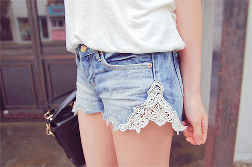 Shorts pizzo fai da te | DIY lace shorts tutorial