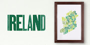 GREEN ISLE: This digitally printed map of Ireland by Etsy's Fontmap (above . etsy font map