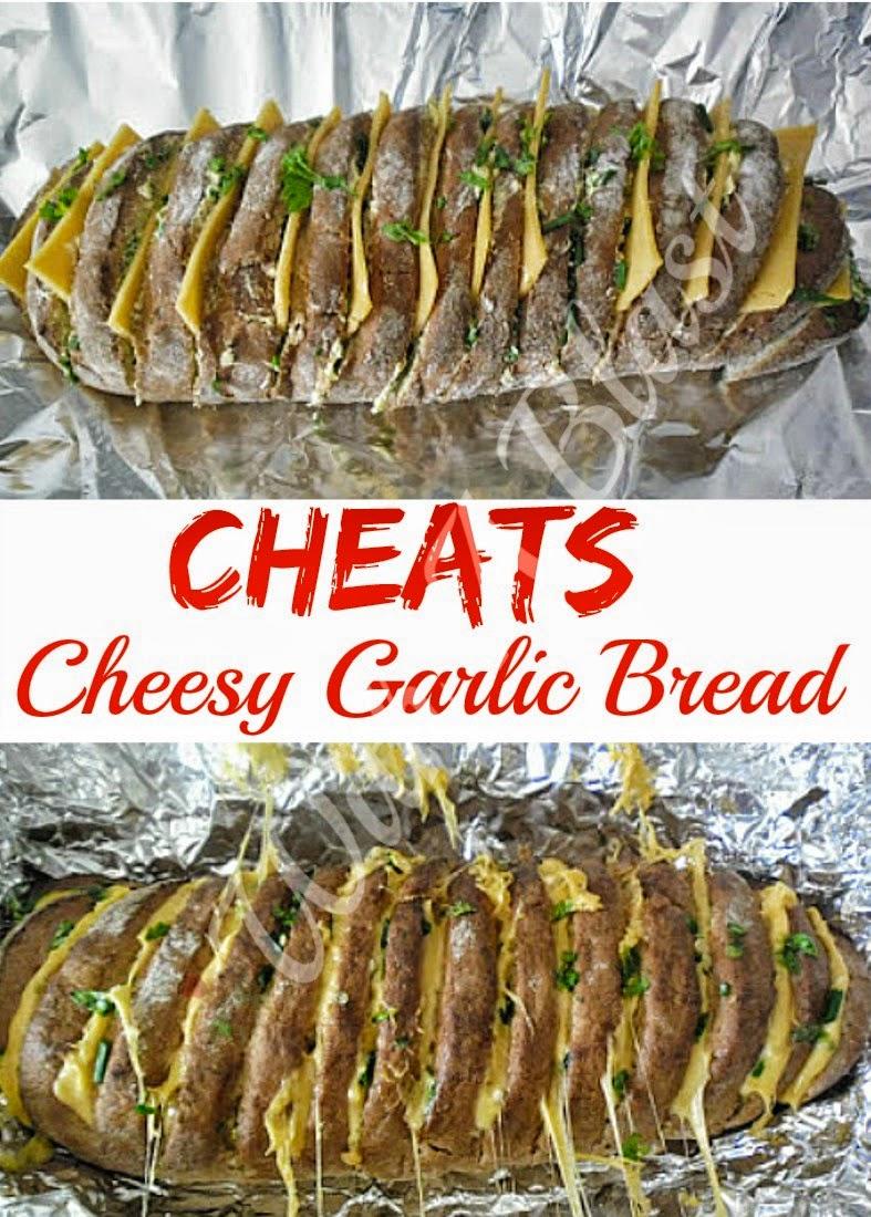 Cheesy Garlic Bread ~ Turn a store-bought French loaf into a gooey delicious, Cheesy Garlic Bread #GarlicBread #QuickBread