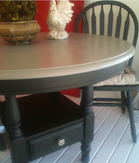 Painted Round Kitchen Table And Chairs: Round Kitchen Table And Chairs Painted With Annie Sloan
