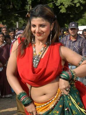 Telugu Actress Rambha Hot Photos in Saree