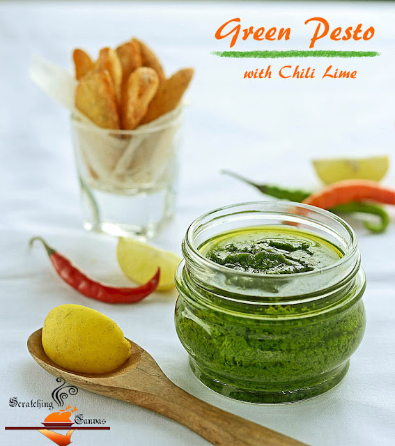 Coriander chili Pesto with lime