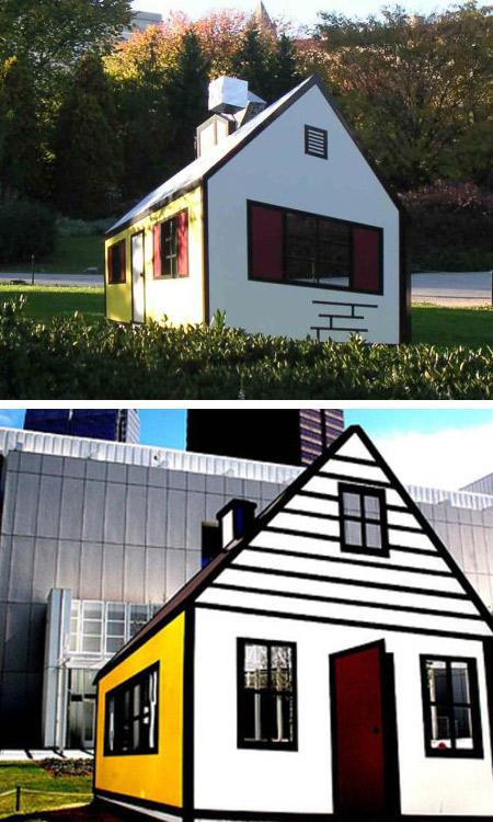 arquitetura ilusão de ótica, ilusões de ótica, design, criatividade, curiosidades, mestres da arquitetura, casa lichtenstein 3d, eu adoro morar na internet