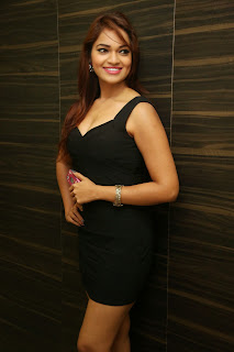 Actress Ashwi Latest  Pictures in Black Short Dress at Chakkiligintha Trailer Launch  25.JPG