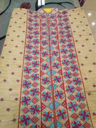 Phulkari work kurti