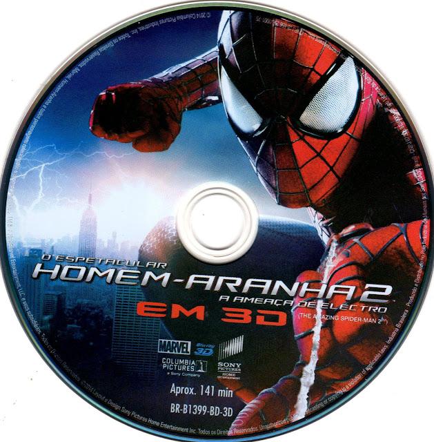 Label Bluray 3D O Espetacular Homem-Aranha 2 A Ameaça De Electro