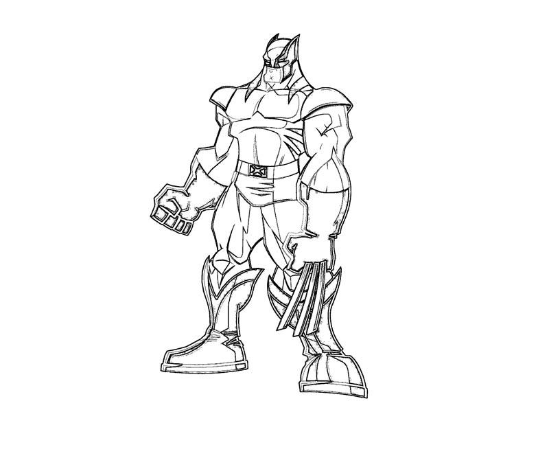 #4 Wolverine Coloring Page