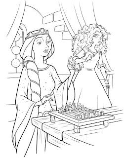 Jogos de Pintar Merida e Elinor Valente