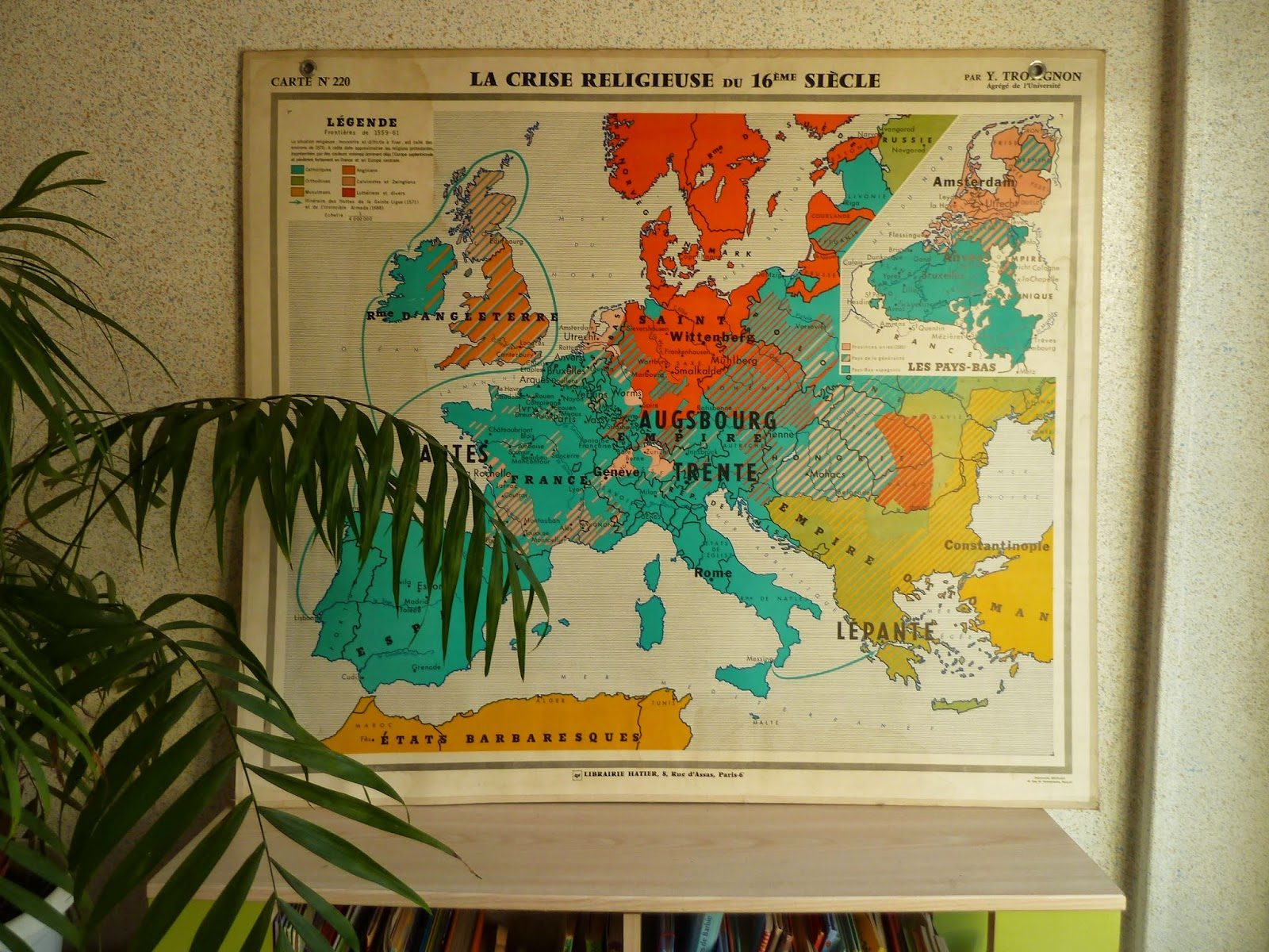 Vintage french posters botany animals anatomy old world maps from set of french antique map history europe and france gumiabroncs Choice Image