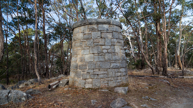 summit cairn on mount alexander