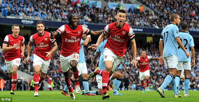 Hasil Pertandingan Manchester City vs Arsenal 1-1, 23 September 2012