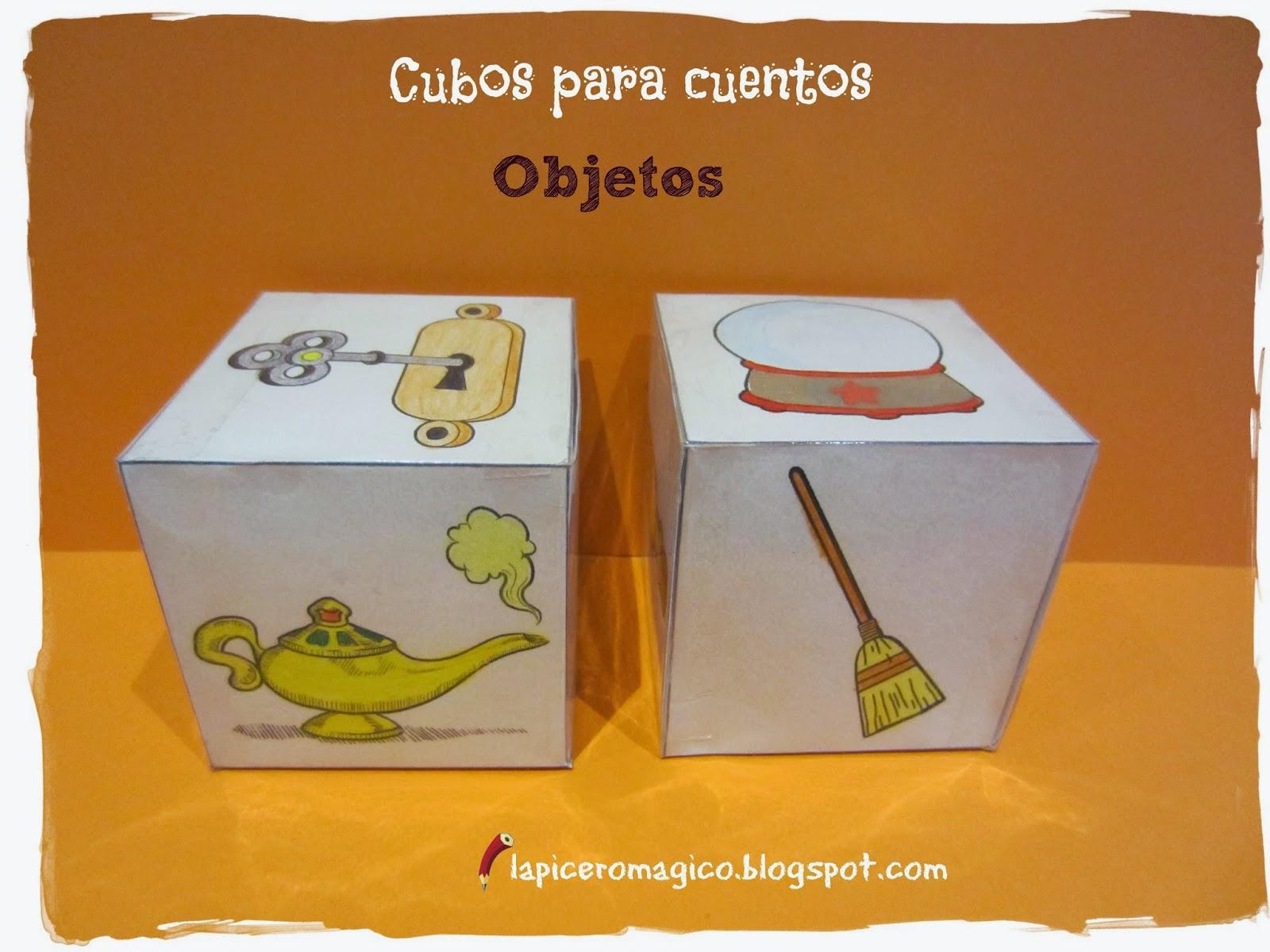 Lapicero m gico cubos para inventar cuentos for Mueble organizador de 9 cubos