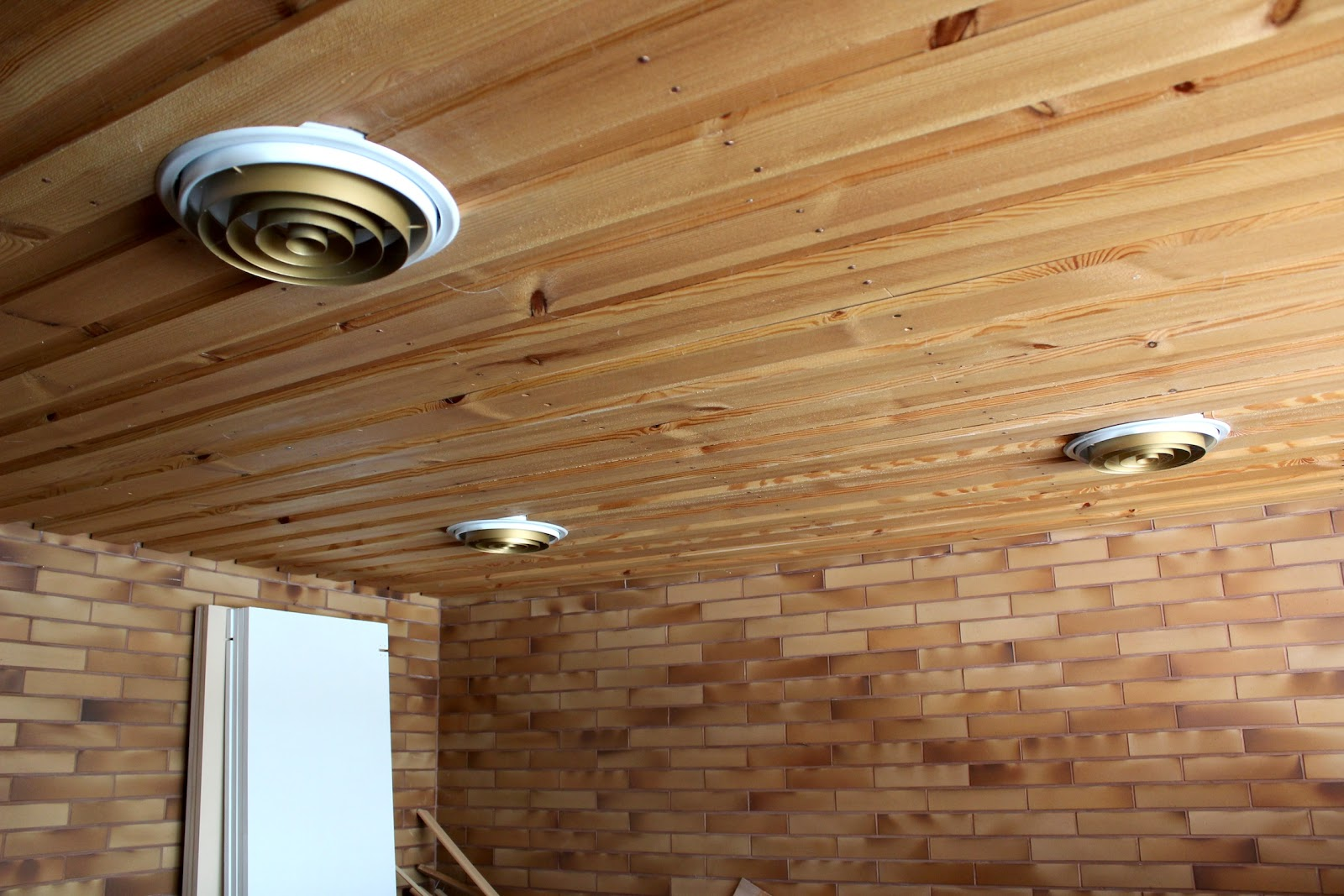 suspended ceiling downstairs