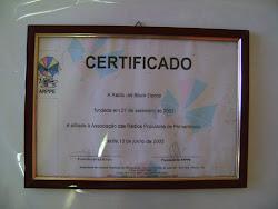 Certificado da Arppe ass. das Radio Populares de Pernambuco Jet Black Oásis do Nordeste desde 2000