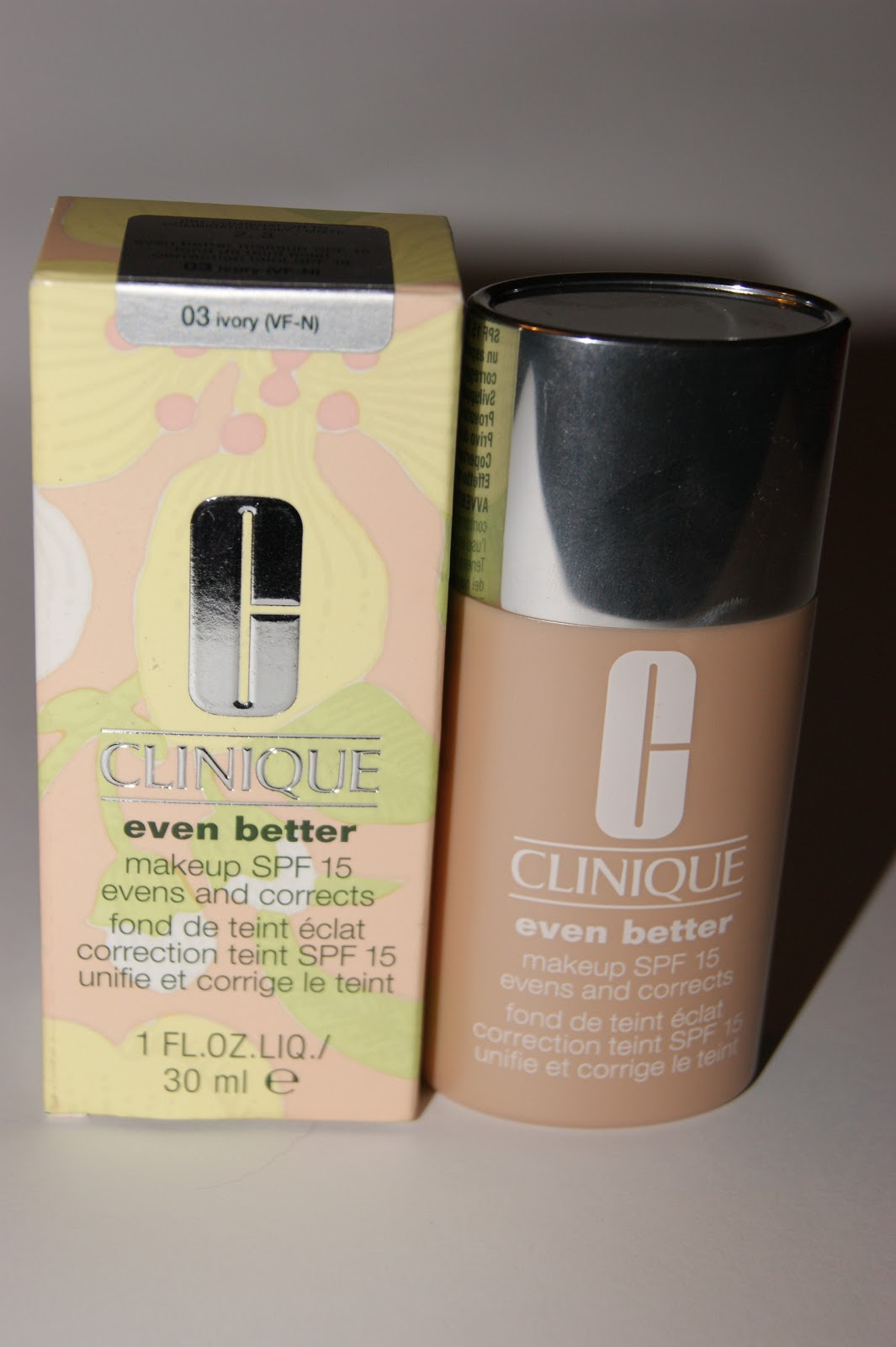 Clinique even better makeup foundation review swatches before - Clinique Even Better Foundation Review Saturday March 03 2012