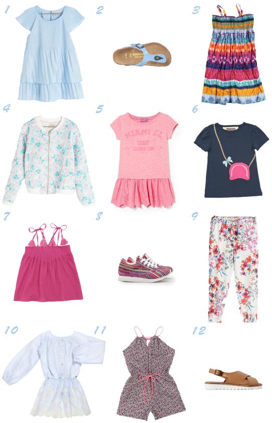 Selección prendas moda niña Últimas rebajas Verano 2014 Pequeña Fashionista