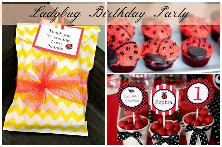 Ladybug Birthday Party Sweet Sacks Outside the Box Papers