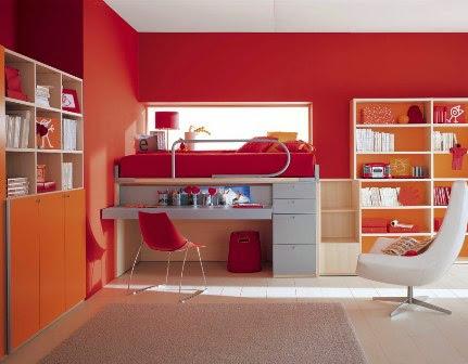 Trend Warna Merah Untuk Warna Cat Rumah Populer 2015