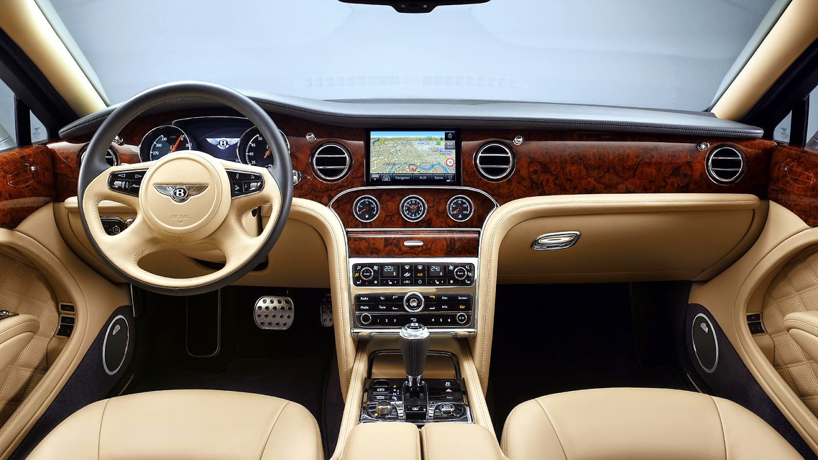 2010 Bentley Mulsanne - Black Front Angle Speed - 1280x960 - Wallpaper