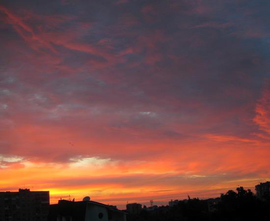 летний закат, summer sunset