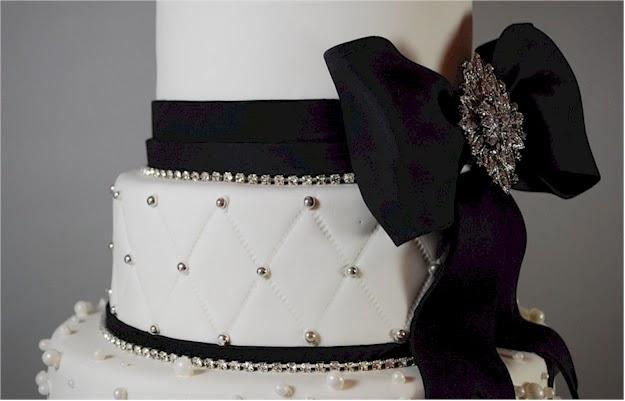 Uloaku\'s blog: Black and White fondant covered cake with fondant ...