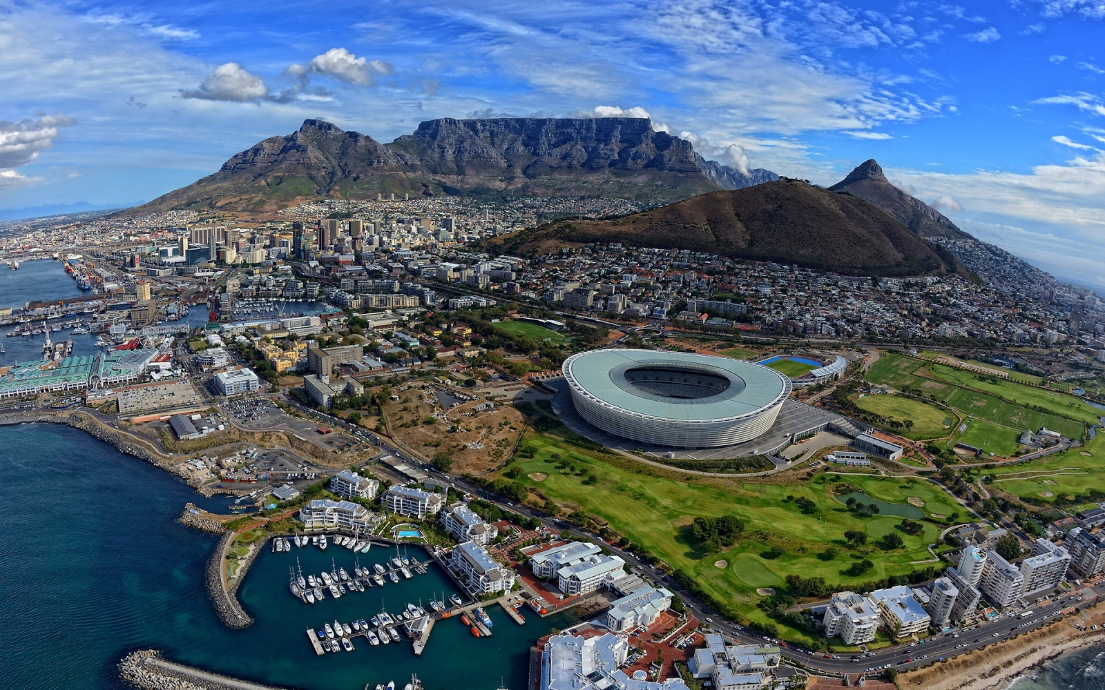 cape town beautiful african city panorama south africa hd desktop