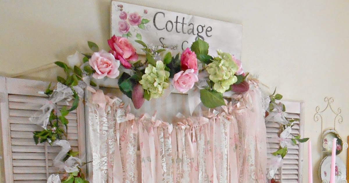 Olivia 39 s romantic home shabby chic rag garlands for Shabby chic garland lights