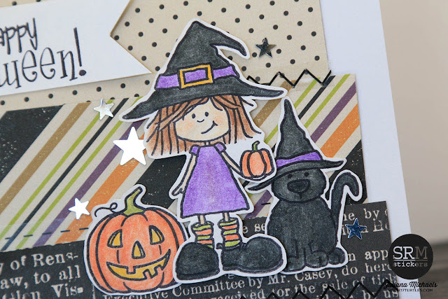 Happy Halloween Shaker Box Card by Juliana Michaels featuring SRM Stickers, Jane's Doodles Stamps and Echo Park Paper