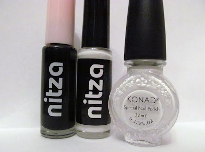 nitza striping polishes konad stamping white polish