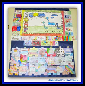 Back to School Classroom Puzzle Bulletin Board at RainbowsWithinReach