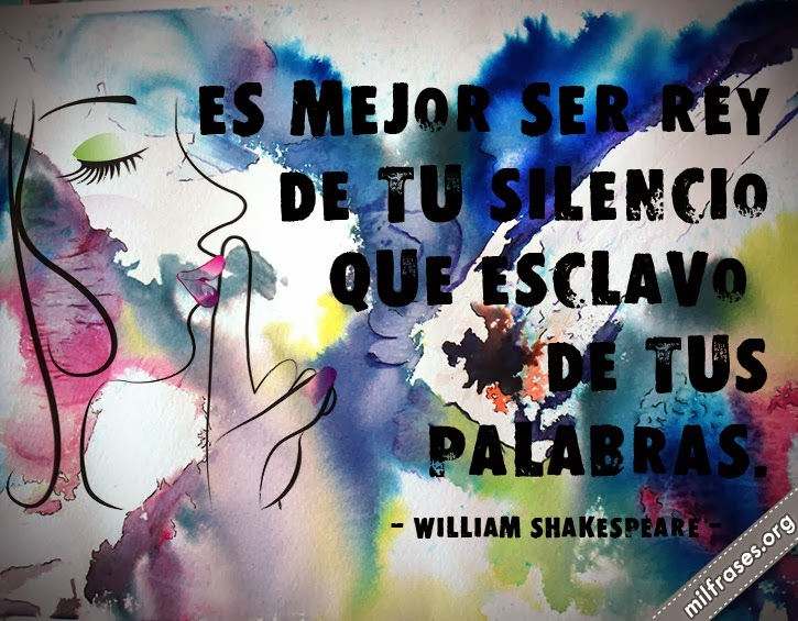 frases y libros de William Shakespeare (1564-1616) Escritor británico.