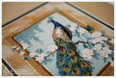 Dimensions Прекрасная птица вышивка
