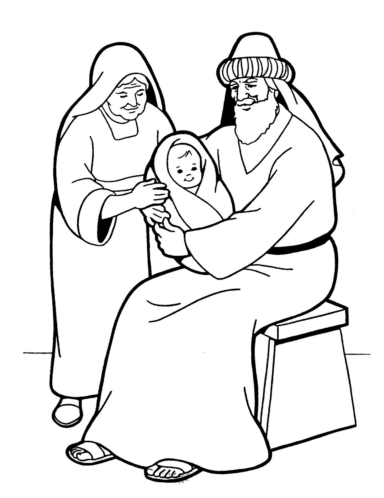 simeon and anna coloring pages - photo#4