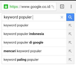 Keyword populer