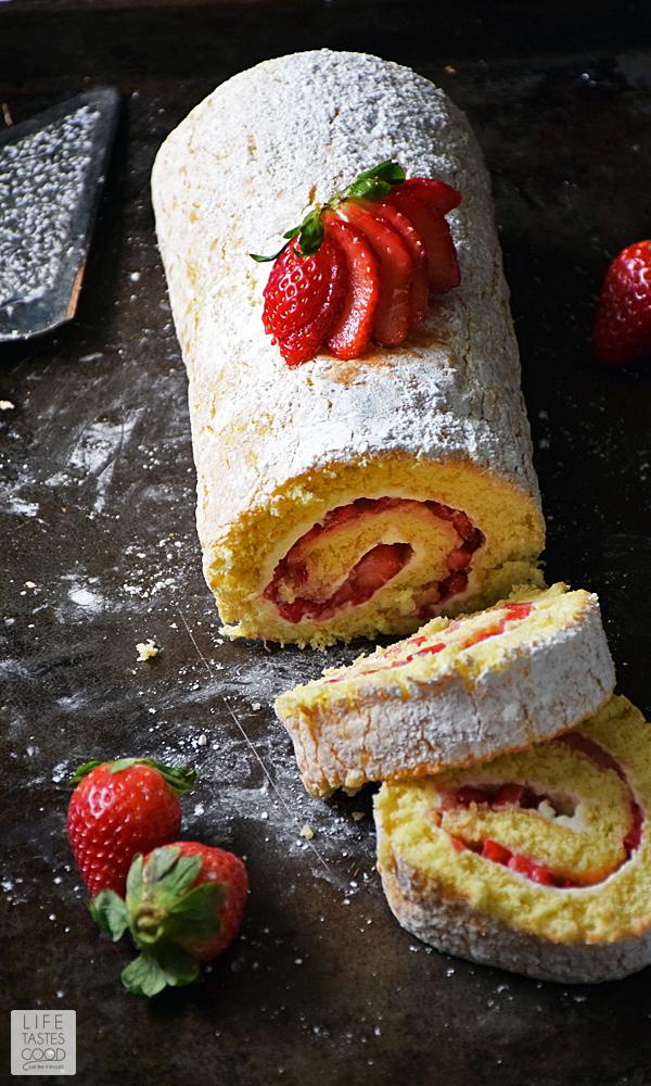 Strawberry Jelly Roll Cake Recipe