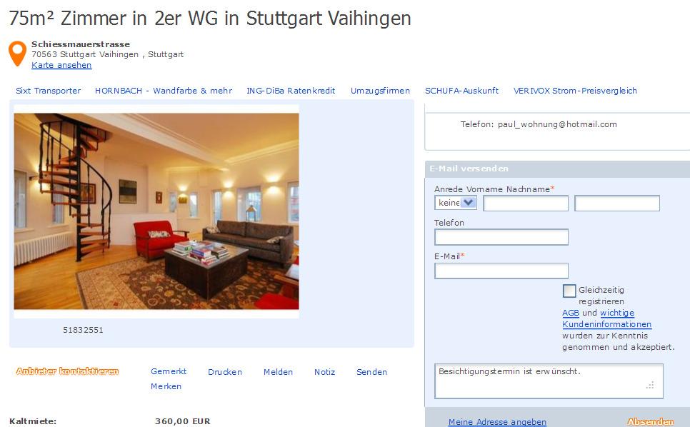 Permalink to Wohnung Stuttgart Vaihingen