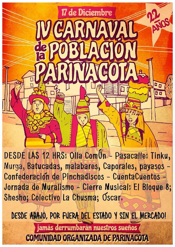 QUILICURA: IV CARNAVAL DE LA POBLACIÓN PARINACOTA