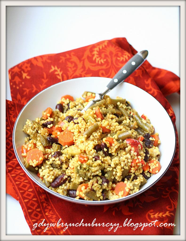 kasza jaglana na obiad z warzywami