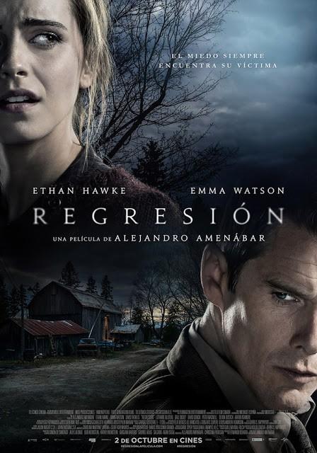 Desta vez o novo poster de Regression traz Emma Watson e Ethan Hawke juntos