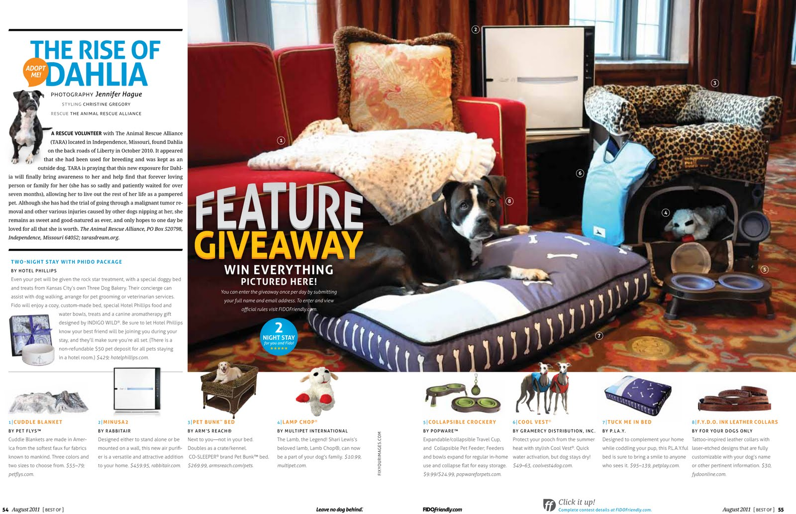 Featured In Fido Friendly Magazine 50th Anniversary Betty White
