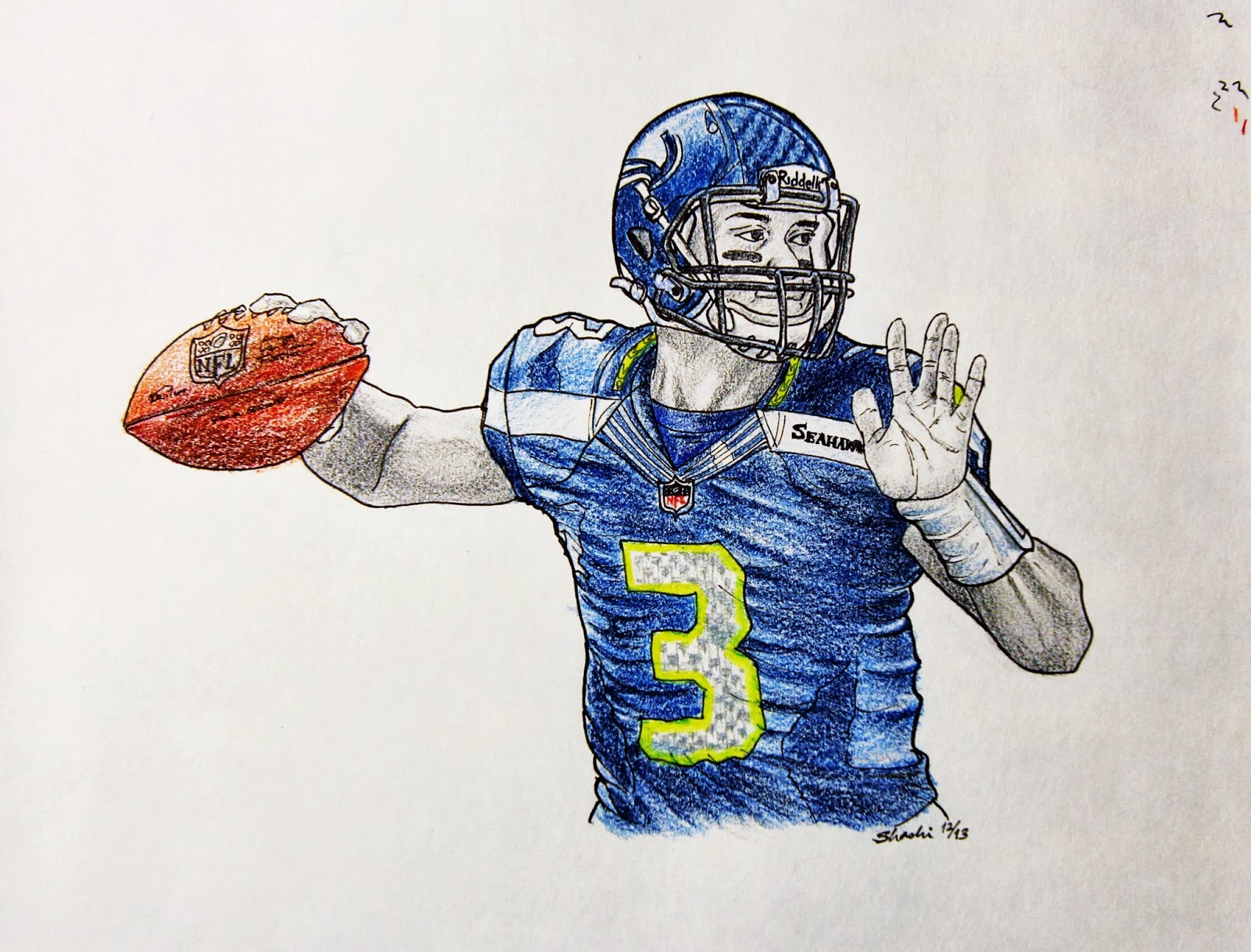 84 How To Draw Russell Wilson Step By Step