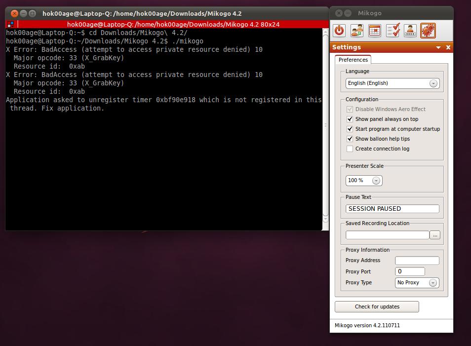Cara menjalankan Mikogo di Ubuntu