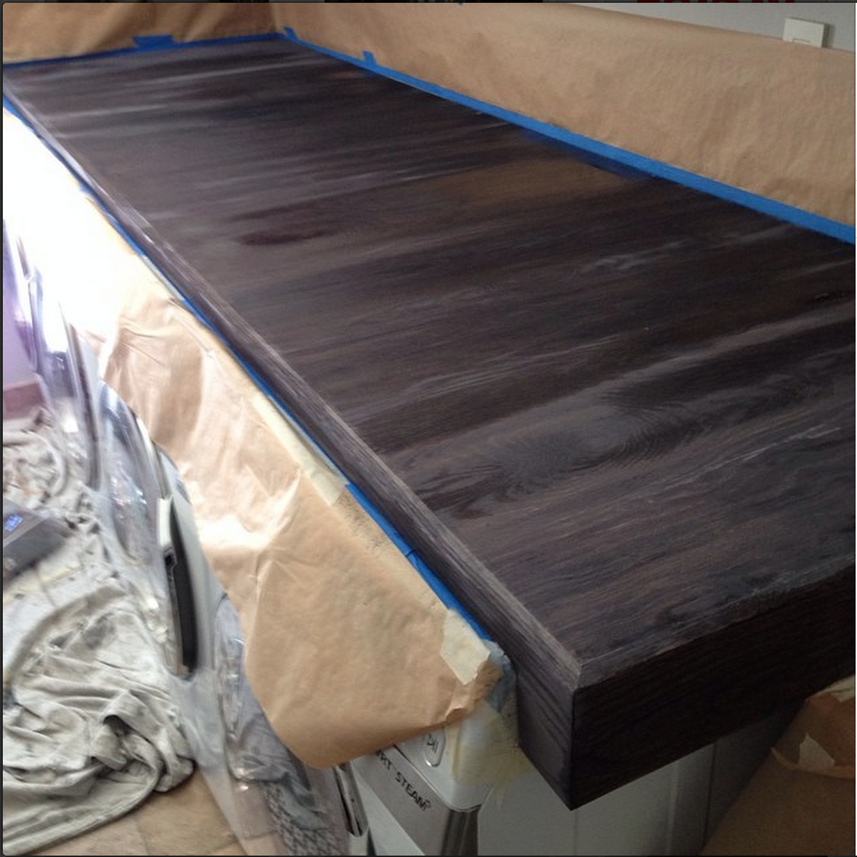 Look At The Wood Turn Color As It Dries. Most Hardwoods Will Be Dry Within  15 Minutes. Thatu0027s Because Oak Is So Super Tannin Rich  Especially Freshly  Cut ...