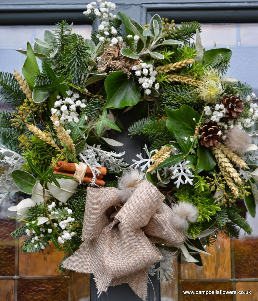 Rustic Christmas Wreath by Campbell's Flowers